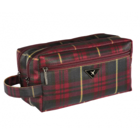 BEAUTY CASE BURGUNDY TARTAN B. ADAM T ART. 49415
