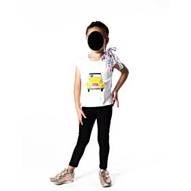 t-shirt bimba con auto taglia 8 anni