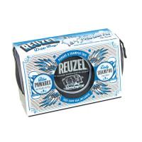 REUZEL BLUE POMADE GIFT SET - BLUE POMADE 35G + 113G, SHAMPOO&BAG 100ML