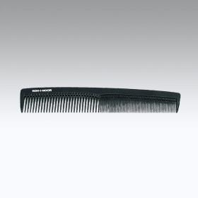 Pettine rado/fitto classico adatto a diverse capigliature. Colore nero.